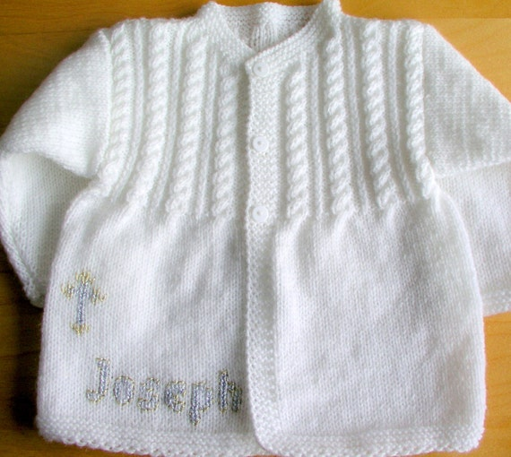 Personalized Gift ANY Name Hand Knitted Baby Girl Boy