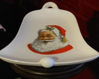 Santa Bell Christmas Plate