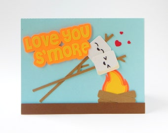Cute Love Card - Love You Smore - Anniversary Card - Love Cards