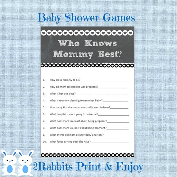 baby shower game who knows mommy best rustic baby shower who knows