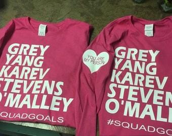 Grey's inspired t shirt