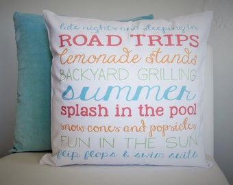 SUMMER CLEARANCE SALE, Summer Subway, Summer Subway Pillow, Summer Pillow, Summer decor