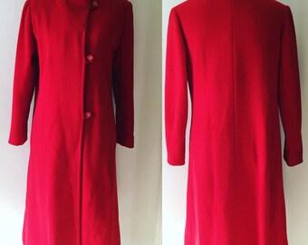 Beautiful 1950's Red Opera Dress Jacket- M