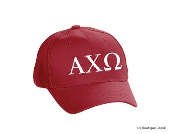 AXO Alpha Chi Omega Classic Letters Hat