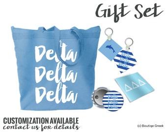 Tri Delta Delta Delta Delta Script Letters Gift Set