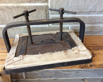 Vintage AAMEL Iron and Wood Book Press