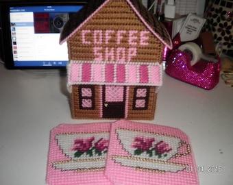 Coffee Shop Village Coaster Holder