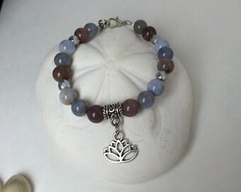 Lotus quartz bracelet