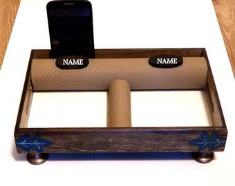 Cell Phone Holder, Desk Accessories, Desk Organizer, Office Organization, Charging Station, Wooden Stand, Mens Key Holder, IPhone Stand Ipad