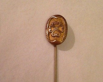 Vintage Gold Toned Victorian Inspired Stick Pin
