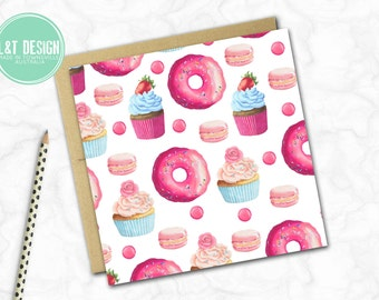 Donuts and Cupcakes Mini Card