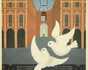 Vintage Orient Express Poster Milan Poster A3 Reprint