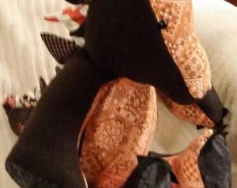 Custom Handmade Dinosaur Plush, Stuffed, Scales