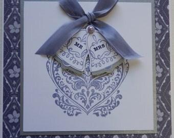 Purple Bells Wedding Card