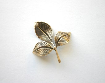 2 Lg. Rose Leaf in Antique Bronze Brass, Very Detailed, 49x38mm - Made in USA