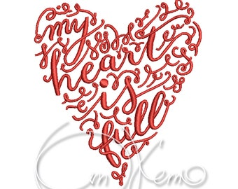 MACHINE EMBROIDERY DESIGN - Valentines Heart, Wedding heart, Heart embroidery file