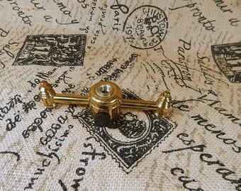Vintage 2 Arm Lamp Cluster Brass