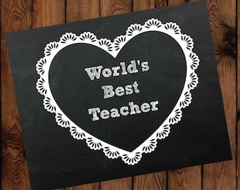 World's Best Teacher Printable