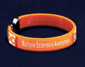 Multiple Sclerosis Awareness Bangle Bracelets (Retail) (RE-B-22-5MS)
