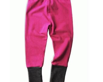 Lounge Pant: Raspberry + Charcoal
