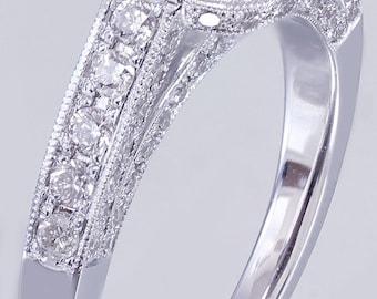 EGL USA E-SI1 14k White Gold Cushion Cut Diamond Engagement Ring Bezel 1.70ctw