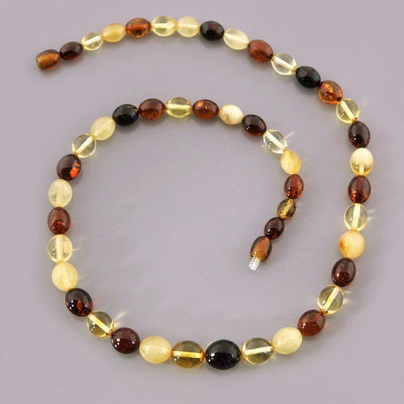 Olive Garden With Amberstone: Olive Beads Genuine Baltic Amber Necklace. By AmberViktoria