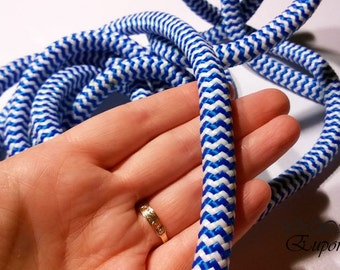 10mm  Braided Cord Blue/White
