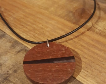 Exotic Wood and Resin Necklace - #RBL008