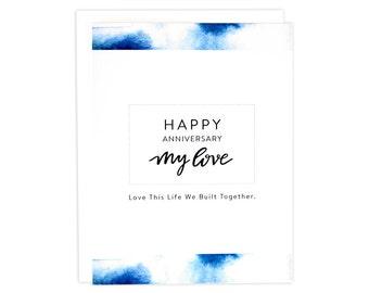 Anniversary Card, Husband Anniversary, Anniversary Love Card, Happy Anniversary Card, Wife Anniversary, Wedding Anniversary, Indigo