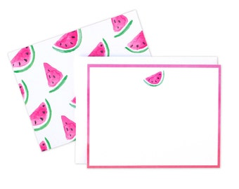 Watermelon Card, Pink Ombre Card Card, Thank You Cards, Pink Ombre Card, Boxed Card Set, Watermelon Watercolor Card, Pink Notecard, Box Set