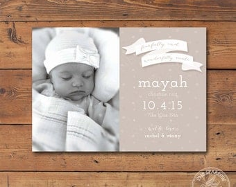 Fearfully and Wonderfully Made Birth Announcement