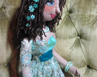 Delilah, OOAK cloth art doll