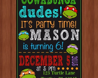 ninja turtle invitation template image collections template design