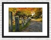 Floral Way Path - Lake Quannapowitt, Wakefield, MA - Photo Art Print