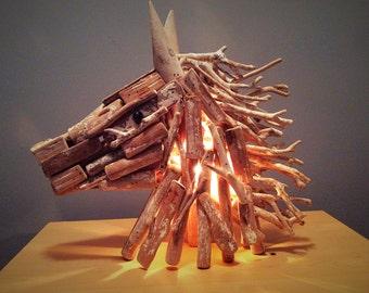 Driftwood Horse head light.