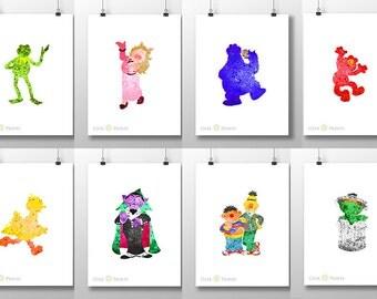 Seseme Street Puppet Print *Choose*