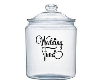 Wedding Fund Vinyl Jar Decal