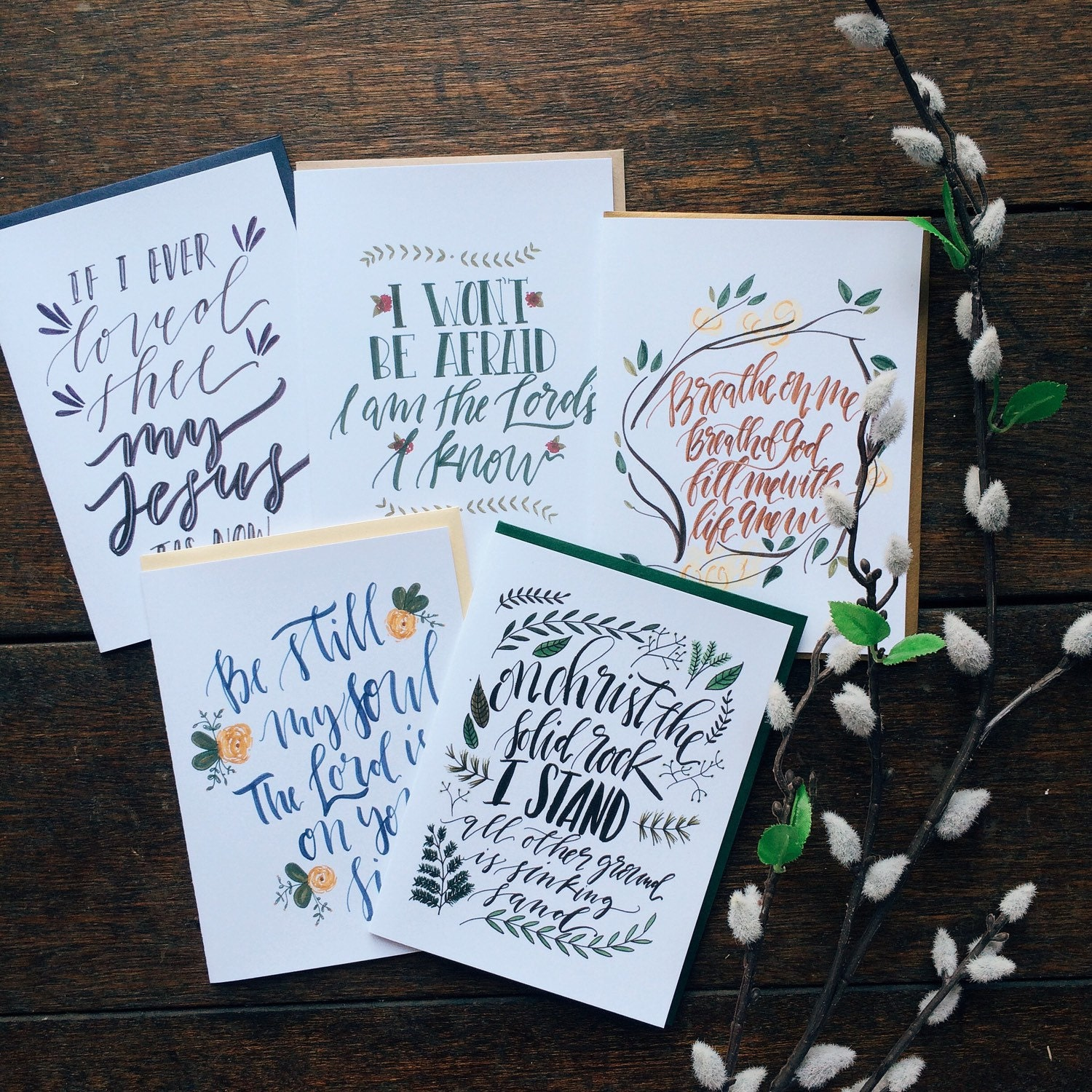 Hymn Card Collection For Lent Featuring 5 Different