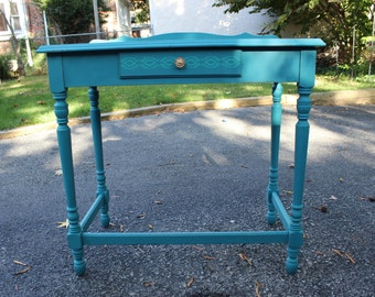 Bohemian Turquoise Vintage Table