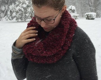 Knit Soft Chunky Infinity Cowl Scarf