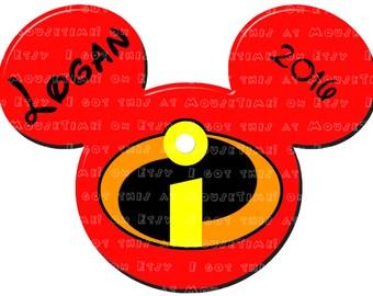 IRON-ON Incredible (Mickey) Ears! - Mouse Ears Tshirt Transfer