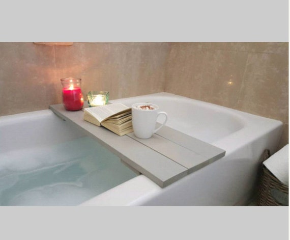 Bath caddy bathtub tray bath tray by cottagecountrycorner for Bathroom tray