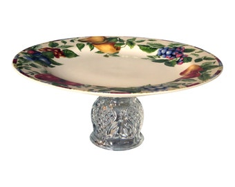 Sandwich Plate, Fruit Plate, Cupcake Pedestal, Pastry Plate Stand, Appetizer Server, Buffet Stand, Candle Stand (item# 00035)