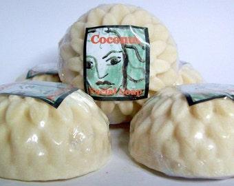 Coconut milk facial soap