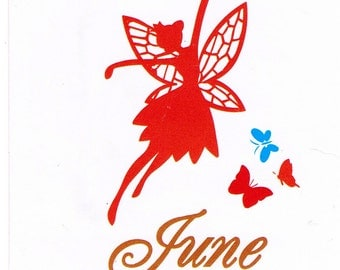 Butterfly Fairy Faerie Queen June Clear Cling Stamp Set