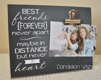 going away gift best friend photo frame moving away gift custom picture frame best friends forever never apart new home gift idea
