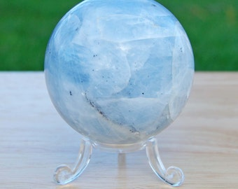 Blue Calcite Crystal Sphere Crystal Therapy