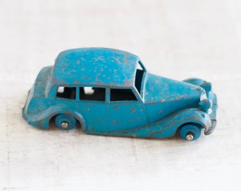 Antique Blue Car - Dinky Toys - Triumph Meccano Ltd - Made in England