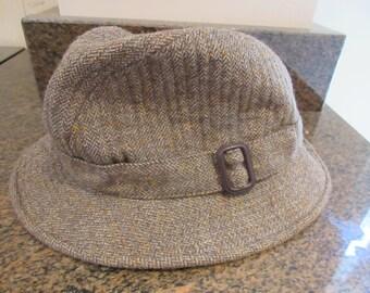 Vintage Mens 1960's Tweed Hat MADE IN BRITAIN By 'GameDog - Nice!!