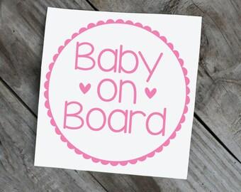 Baby on Board vinyl car window Decal